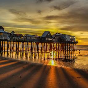 OOB Shadow Sunrise by Rob King - Landscapes Beaches ( water, beaches, sea, sunrise, seascape, beach, sun, shadows )