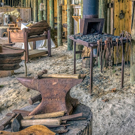 The Foundry by Robert Sellers - Landscapes Travel ( blacksmith, old, fl, florida, foundry, st, museum, forging, forge, saint, augustine )