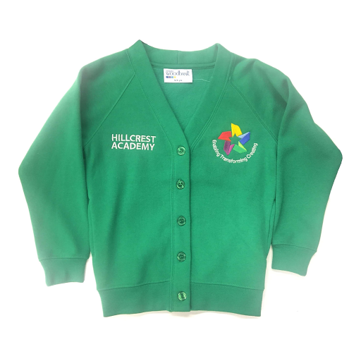 Hillcrest Academy Emerald Green Cardigan