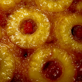 Pineapple Upside-down Cake by Jane Spencer - Food & Drink Cooking & Baking ( cherry, cake, pineapple, upside-down, baked,  )