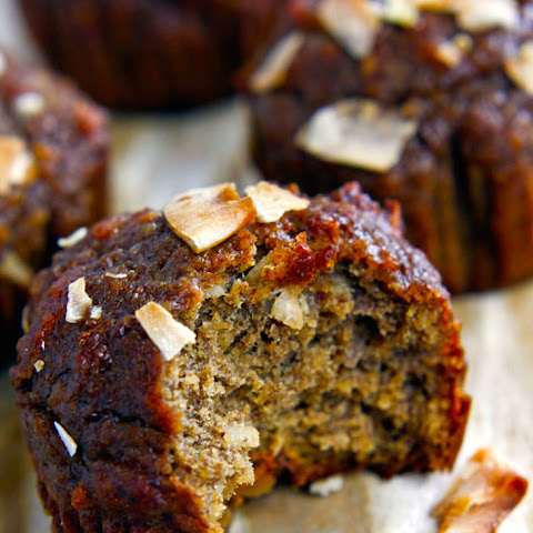 Paleo Banana Muffins with Toasted Coconut