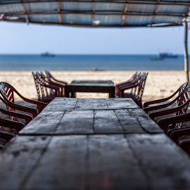 Seaside Restaurant by Steve Badger - Artistic Objects Furniture ( asia, lang co, vietnam, beach, travel )