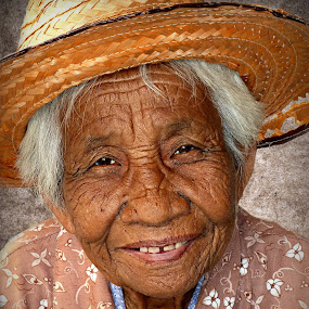84 Years Young. by Ian Gledhill - People Street & Candids ( face, old, thailand, asia, portrait, culture, people. portrait, portraits, streets, children, people, work, , photography, closeup, close, up, Travel, People, Lifestyle, Culture )