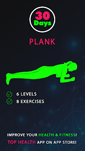 30 Day Plank Challenges Fitness app screenshot for Android