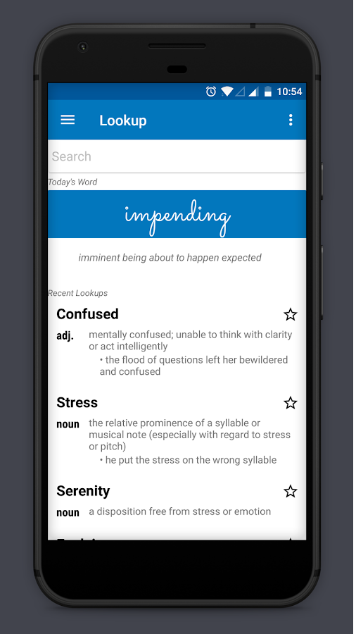 Look Up - A Pop Up Dictionary Screenshot