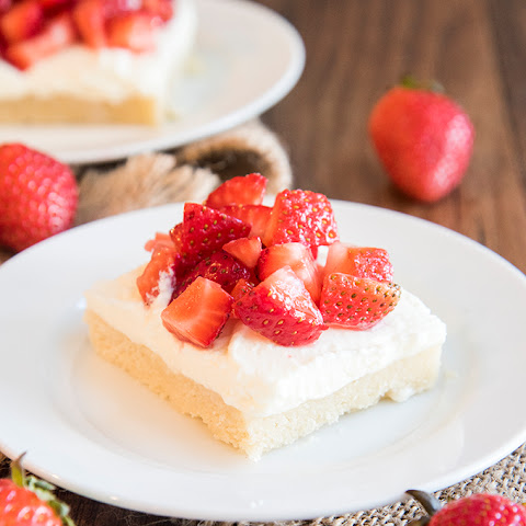 Strawberry Shortcake Sugar Cookie Bars