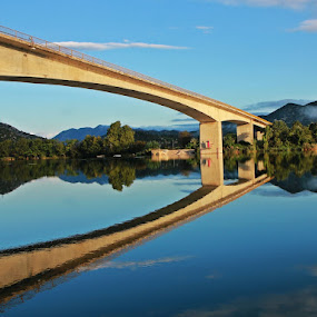 After storm by Mirjana  Bocina - Buildings & Architecture Bridges & Suspended Structures ( neretva, water, reflection, croatia, bridge, hrvatska, river,  )