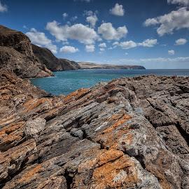 Coastline Curve by Steve Badger - Landscapes Beaches ( south australia, adelaide, seascape, second valley, rocks,  )