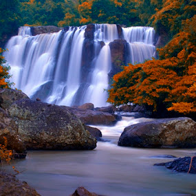 Malela Waterfall by Marlon Managi - Landscapes Forests ( indonesia, waterfall, west java )