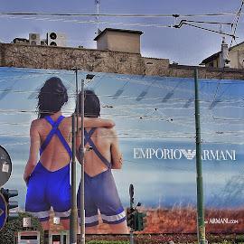 by Jose Figueiredo - City,  Street & Park  Street Scenes ( street, poster, city life )