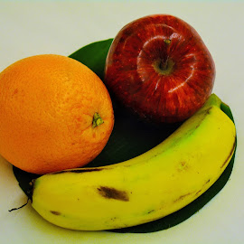 FRUITS # 3 by Malay Maity - Food & Drink Fruits & Vegetables ( orange, banana, fruit, apple, drink, fruits, fruits and vegetables, photography )