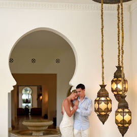 Lights by Andrew Morgan - Wedding Bride & Groom ( love, lights, wedding, destinationwedding, bride, groom )