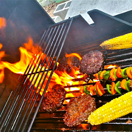 { July 4 RTH ~ Barb ~ B ~ Q ~ Sweet Corn ~ Peppers  ~ and Burgers }  by Jeffrey Lee - Food & Drink Meats & Cheeses ( { july 4 rth ~ barb ~ b ~ q ~ sweet corn ~ peppers  ~ and burgers } )