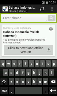 Welsh-Indonesian Dictionary - screenshot
