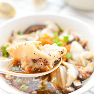 Red Oil Wonton Soup - chao shou