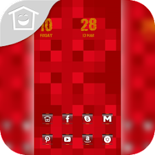 Passion red checkered theme
