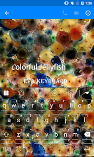 Colorful Jellyfish Keyboard - screenshot