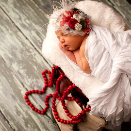 Stella by Angie Brinkerhoff - Babies & Children Babies ( #winterbaby, #babies, #newborn, #sleepingbaby, #christmas )