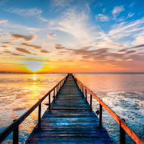 Bridge to Heaven by Darren Tan - Landscapes Sunsets & Sunrises ( sky, heaven, peace, bridge, sunrise )