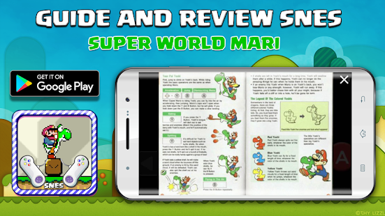 SNES Super Mari World - Guide Board & story
