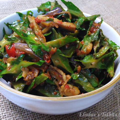 Stir Fry Winged Beans And Eggplants With Dried Shrimps Sambal