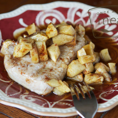 Gluten Free and Dairy Free Pork Chops and Apples