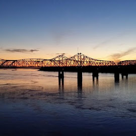 Mississippi River Bridge in Vicksburg. by Kim Tindol - Buildings & Architecture Bridges & Suspended Structures