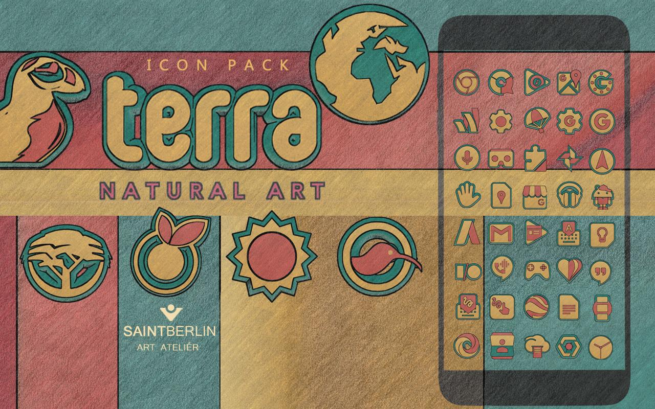 Terra Icon Pack Natural Art Screenshot 8