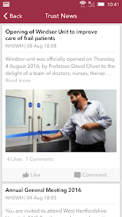 West Hertfordshire NHS Trust - screenshot