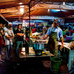 Pasar Malam Gadong by Mohamad Sa'at Haji Mokim - City,  Street & Park  Markets & Shops ( market, people )