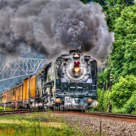Living Legend No. 844 by Rod Davis - Transportation Trains ( locomotive, steam train, train, transportation, daylight, smoke )