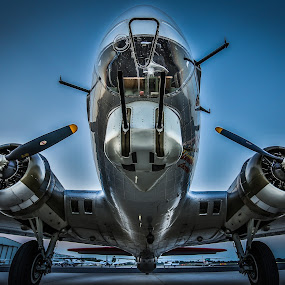 B17 by John Spain - Transportation Airplanes ( wwii, vintage, airplane, bomber )