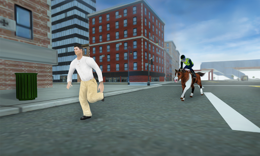 3D Police Horse Racing Extreme screenshot 1