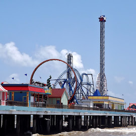 Pleasure Pier  by Jennifer Newman - City,  Street & Park  Amusement Parks ( water, fun, sun )