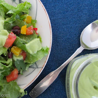Healthy Southwest Salad with Creamy Avocado Dressing