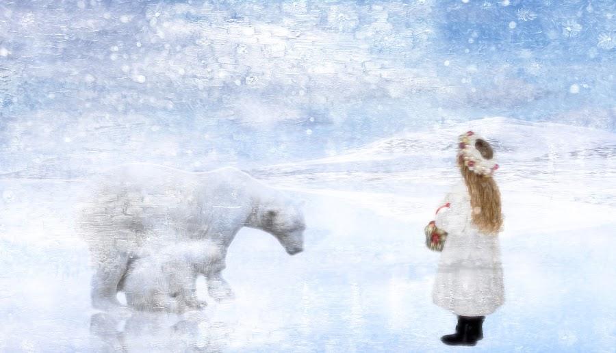 polar by Kathleen Devai - Digital Art People ( polar, winter, girl, ice )