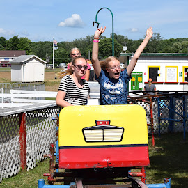 coaster by Steve Hayes - Novices Only Portraits & People ( midway state park, girl, amusement park, roller coaster, fun )