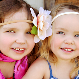 Two Sisters by Cheryl Korotky - Babies & Children Child Portraits