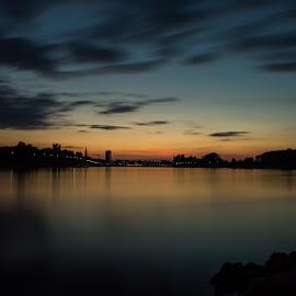Golden hour by Vedran Ristić - City,  Street & Park  Skylines ( skyline, osijek, drava, sunset, croatia, long exposure )