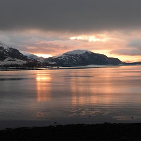 2011 - Christmas sunset over Loch Linnhe (Classic View) by Ros Dando - Landscapes Sunsets & Sunrises