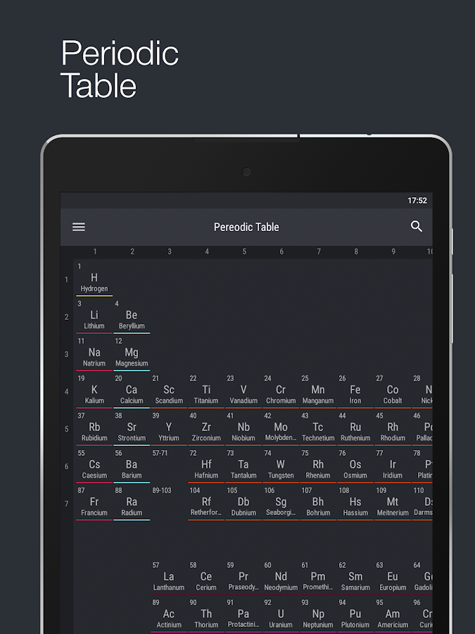 Periodic Table 2016 Pro Screenshot 8