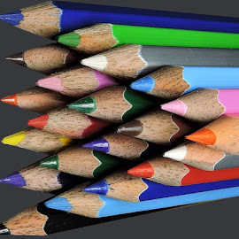 COLOR PENCILS by Kambala Rajesh - Artistic Objects Education Objects