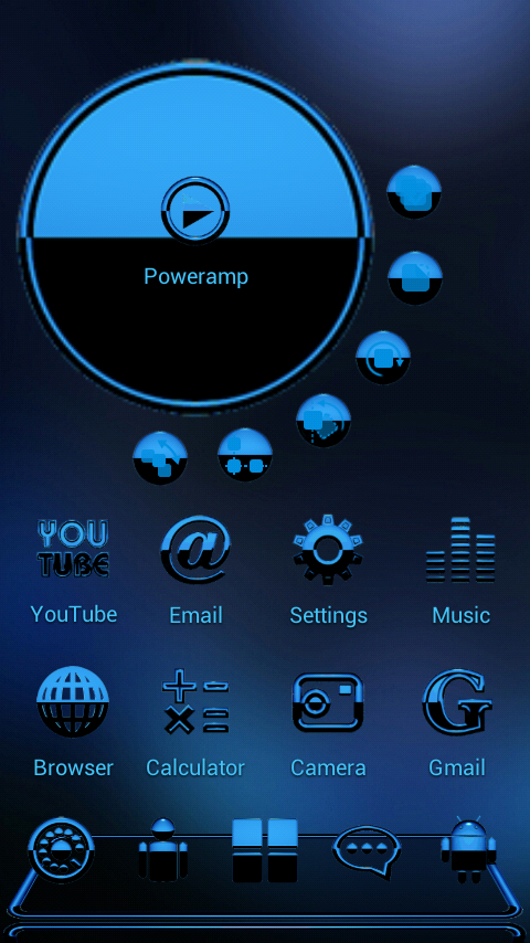 A-BLUE Next Launcher 3D Theme Screenshot 1