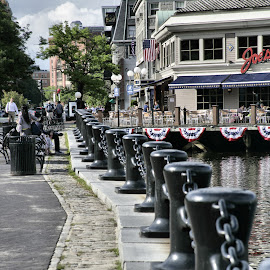 Long Wharf by Cal Brown - City,  Street & Park  Historic Districts ( travel location, historic district, wharf, travel photography, boston mass, city street )