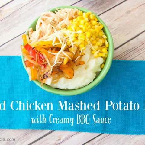 Grilled Chicken Mashed Potato Bowls with Creamy BBQ Sauce