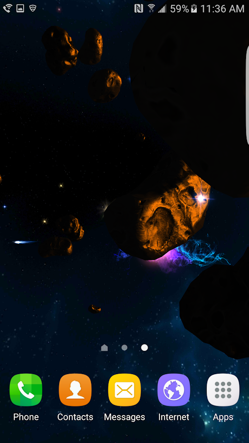 3D Galaxies Exploration LWP Screenshot 1
