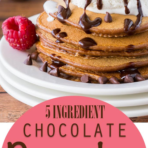 Chocolate Pancakes a la Mode