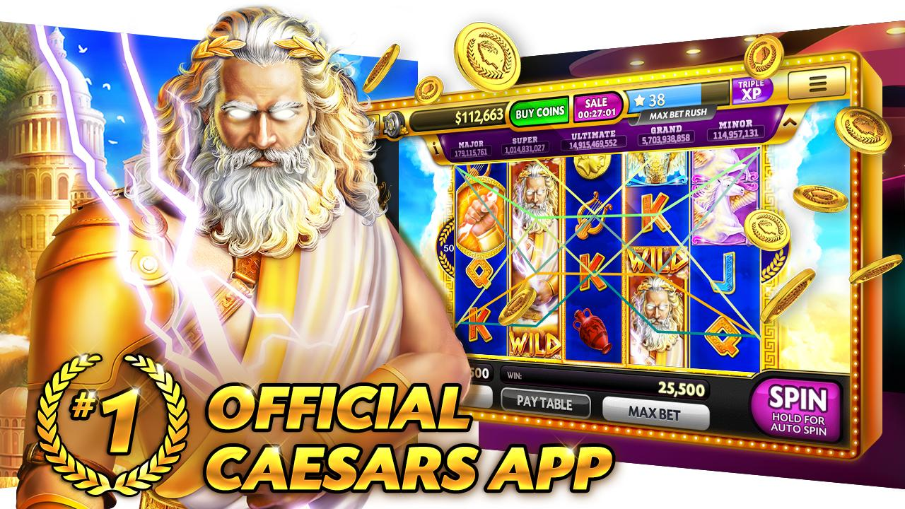 Caesars Slots Spin Casino Game Screenshot 0