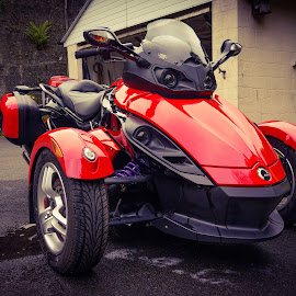 My Can-Am Spyder RS (998cc), Front View by Paul Milligan - Transportation Motorcycles ( trike, motorbike, vehicle, motorcycle, transportation,  )