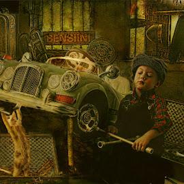 Little mechanic by Pirjo-Leena Bauer - Digital Art People
